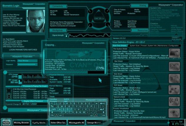 Wizzaygrafix-Cyan OS Interface
