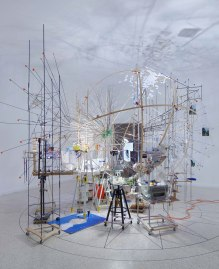 Sarah Sze, 'Triple Point (Planetarium),' 2013. Venice Biennale. Photo: Tom Powel Imaging