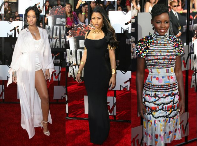 Rihanna Nicki Minaj Lupita MTV Movie Awards