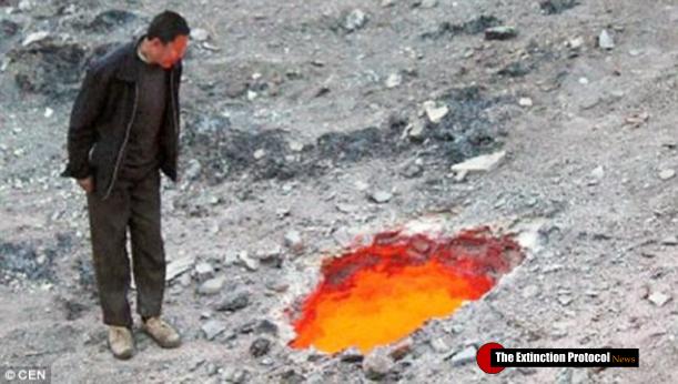 China Fire Sinkhole